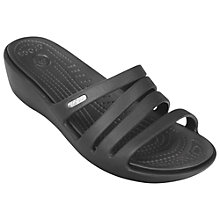 Buy Crocs Rhonda Wedge Heel Sandals, Black Online at johnlewis.com