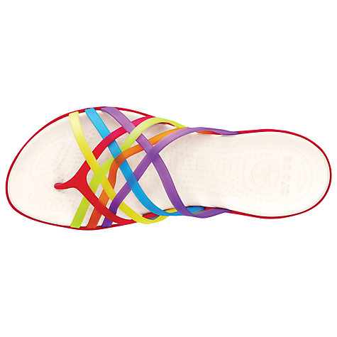 Buy Croc Huarache Flip Flop Sandals, Multi Online at johnlewis.com