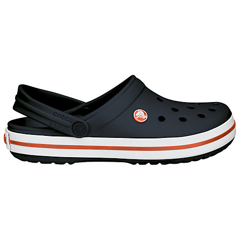 Buy Crocs Crocband Slingback Clog Sandals, Navy / White Online at johnlewis.com
