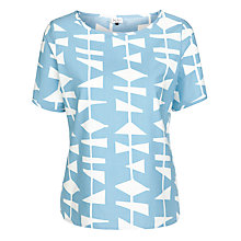 Buy Lucienne Day 1954 Print Shell Top, Blue Online at johnlewis.com