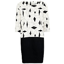 Buy Lucienne Day 1954 Cocoon Dress, Black/White Online at johnlewis.com