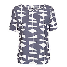 Buy Lucienne Day 1954 Print Shell Top, Grey Online at johnlewis.com