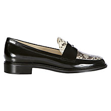 Buy Hobbs Wynne Loafers, Black Snake Online at johnlewis.com