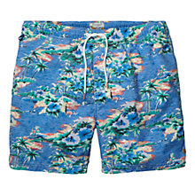 Buy Scotch & Soda Hawaii Swim Shorts, Light Blue Online at johnlewis.com