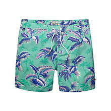 Buy Scotch & Soda Hawaii Swim Shorts, Green Online at johnlewis.com