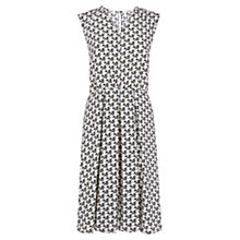 Buy Farhi by Nicole Farhi Star Blossom Print Dress, Khaki Online at johnlewis.com