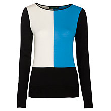 Buy Lauren by Ralph Lauren Rymatha Jumper, Black/Hudson Blue Online at johnlewis.com