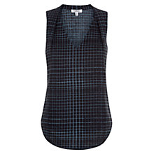 Buy Farhi by Nicole Farhi Linen Print Top, Slate Online at johnlewis.com