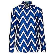 Buy Lauren by Ralph Lauren Chevron-Print Blouse, Cobalt Multi Online at johnlewis.com