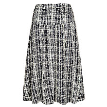 Buy Farhi by Nicole Farhi Textured Grid Jersey Skirt, Navy/Ecru Online at johnlewis.com