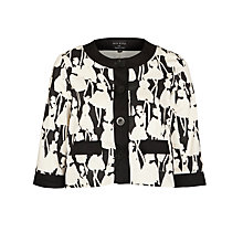 Buy People Tree Orla Kiely Flower Girls Jacket, Black Online at johnlewis.com