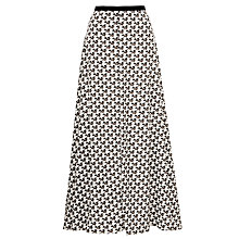 Buy Farhi by Nicole Farhi Starflower Maxi Skirt, Khaki Online at johnlewis.com