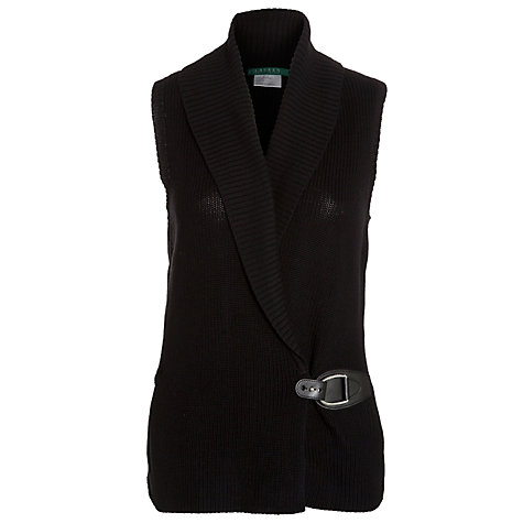 Buy Lauren by Ralph Lauren Fiama Knitted Vest, Black Online at johnlewis.com