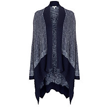Buy Farhi by Nicole Farhi Waterfall Cardigan, Navy Online at johnlewis.com
