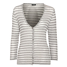 Buy Gerry Weber Lurex Stripe Cardigan, Silver Online at johnlewis.com