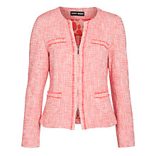 Buy Gerry Weber Boucle Jacket, Coral Online at johnlewis.com