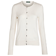 Buy Lauren by Ralph Lauren Silk-blend Cardigan, Pearl Online at johnlewis.com