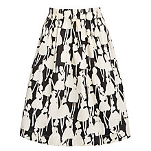 Buy People Tree Orla Kiely Monochrome Skirt, Black/White Online at johnlewis.com