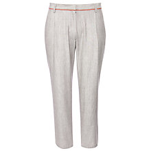 Buy People Tree Jane Drill Skinny Print Trousers, Beige Online at johnlewis.com