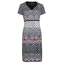 Buy Gerry Weber Contrast Print Jersey Dress, Grey Online at johnlewis.com
