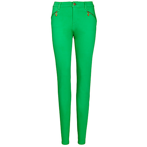 "Buy Lauren by Ralph Lauren Stretch Straight Jeans 33"", Ribbon Green Online at johnlewis.com"