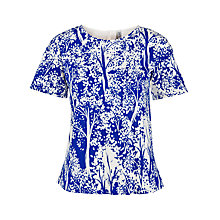 Buy People Tree Liza Top, Blue Online at johnlewis.com