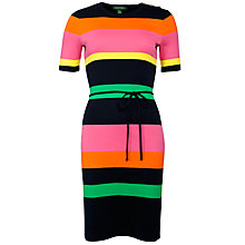 Buy Lauren by Ralph Lauren Striped Cotton Crewneck Dress, Multi Online at johnlewis.com