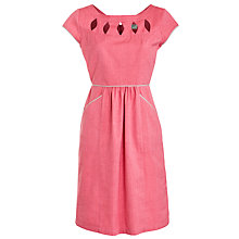 Buy People Tree Dianna Cutout Dress, Coral Online at johnlewis.com
