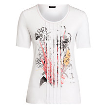 Buy Gerry Weber Placement Print T-Shirt, White Online at johnlewis.com