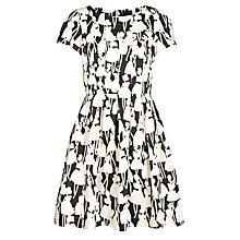 Buy People Tree Orla Kiely Flower Girls Tea Dress, Black Online at johnlewis.com