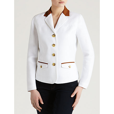Buy Lauren by Ralph Lauren Davondah Jacket, White Online at johnlewis.com
