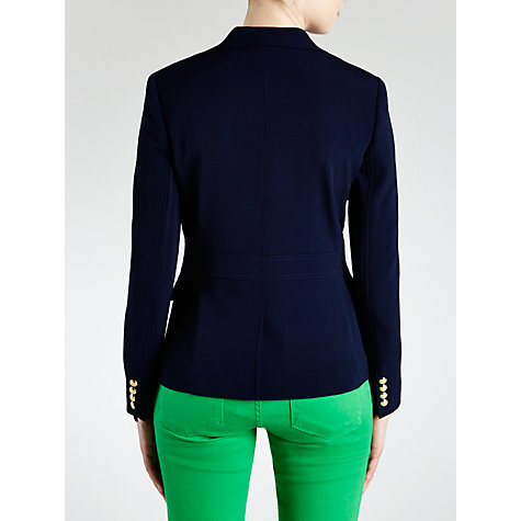 Buy Lauren by Ralph Lauren Cotton Crest Blazer,  Capri Navy Online at johnlewis.com