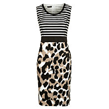 Buy Gerry Weber Stripe & Leopard Dress, Multi Online at johnlewis.com