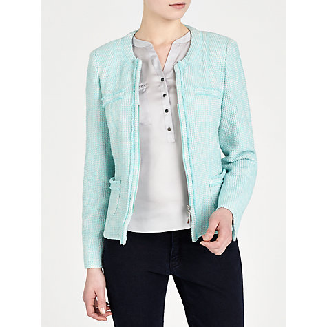 Buy Gerry Weber Boucle Jacket, Aqua Online at johnlewis.com