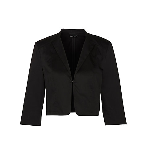 Buy Gerry Weber Cropped Jacket, Black Online at johnlewis.com