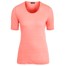 Buy Gerry Weber Linen T-Shirt, Coral Online at johnlewis.com