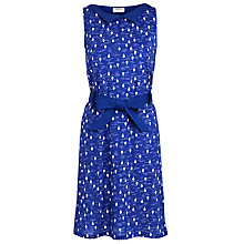 Buy People Tree Collared Balloon Dress, Blue Online at johnlewis.com