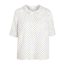 Buy People Tree Amelie Polka Dot Blouse, Blue/White Online at johnlewis.com
