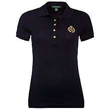 Buy Lauren by Ralph Lauren Crested Cotton Polo Shirt, Capri Navy Online at johnlewis.com