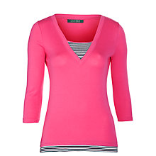 Buy Lauren by Ralph Lauren Niema Knitted Top Online at johnlewis.com