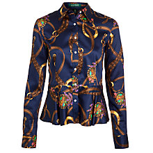 Buy Lauren by Ralph LaurenTaliferro Shirt, Navy Multi Online at johnlewis.com