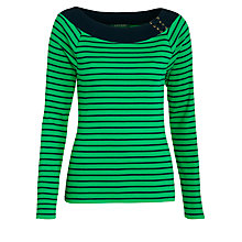 Buy Lauren by Ralph Lauren Jennissa Top, Ribbon Green Online at johnlewis.com