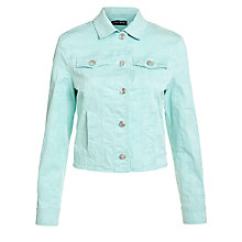 Buy Gerry Weber Jacquard Denim Jacket, Aqua Online at johnlewis.com