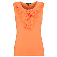 Buy Lauren by Ralph Lauren Sleeveless Ruffled Top, Rich Peach Online at johnlewis.com