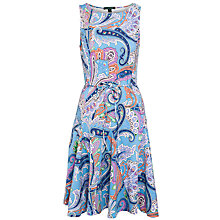 Buy Lauren by Ralph Lauren Lissie Dress, Blue Multi Online at johnlewis.com