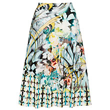 Buy Gerry Weber Printed Slinky Jersey Skirt, Blue Online at johnlewis.com