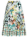 Gerry Weber Printed Slinky Jersey Skirt, Blue
