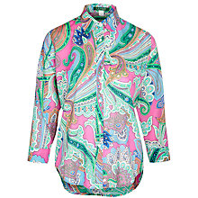 Buy Lauren by Ralph Lauren Paisley Lulu Shirt, Pink Online at johnlewis.com