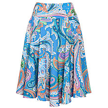 Buy Lauren by Ralph Lauren Ria Skirt, Blue Multi Online at johnlewis.com