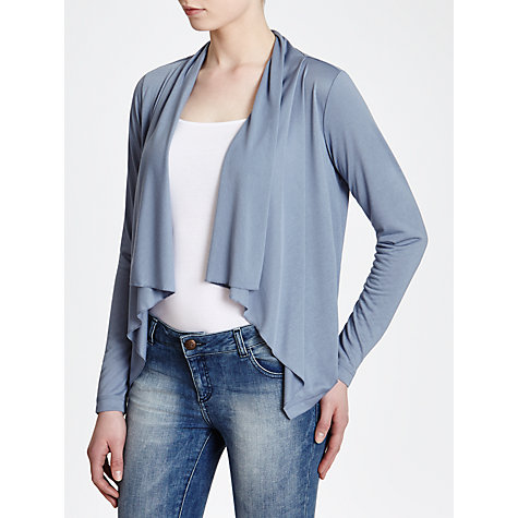 Buy Sandwich Waterfall Jersey Cardigan, Tender Blue Online at johnlewis.com